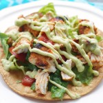 Grilled Chipotle Chicken Tostadas