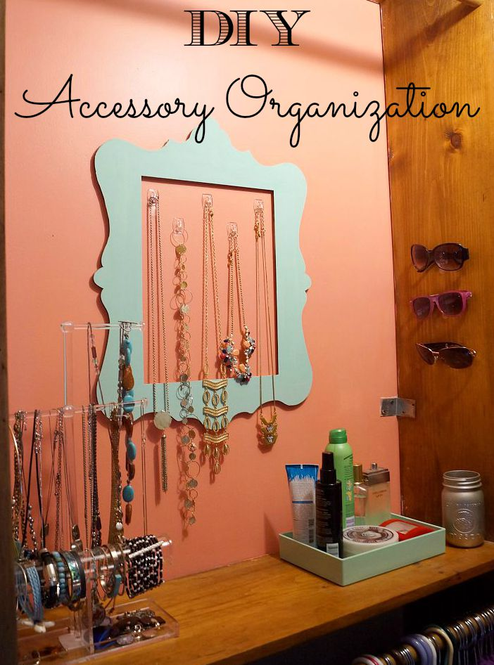 "Easy DIY Accessory Organization: Create a quick ¨Accessory Command Center"" to make getting ready in the morning easier!"