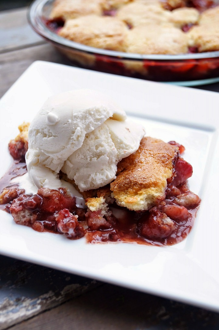 Strawberry and Nutella Cobbler with Easy Cream Biscuits