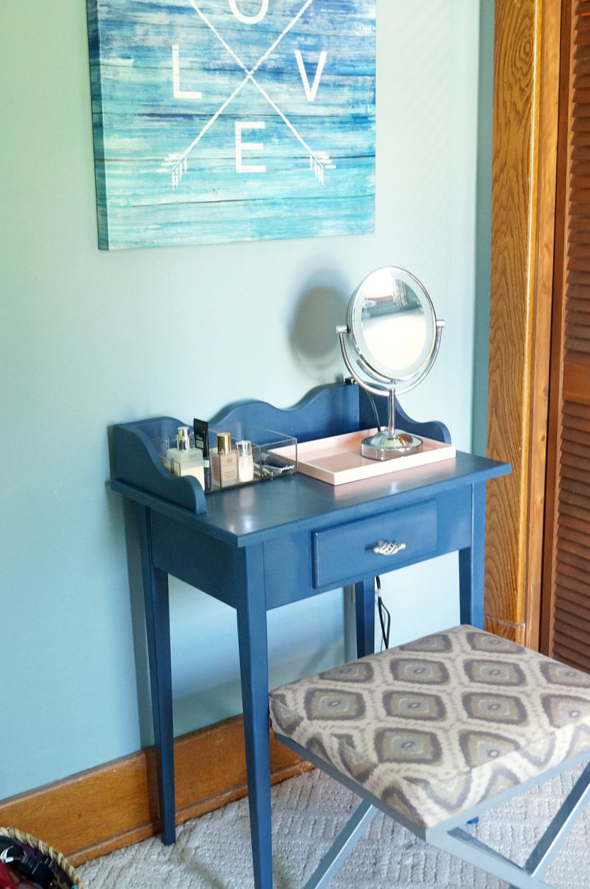 Make Up Vanity Refinish And Organization Old House To