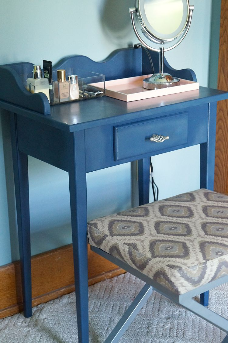 Make Up Vanity Refinish and Organization - Old House to New Home