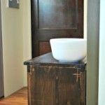DIY Wooden Wastebasket Cabinet