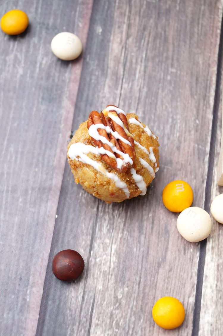 Caramel Coated Pecan Pie Cake Balls