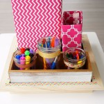 School Supplies and Craft Organizer