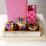 School Supplies and Craft Organizer