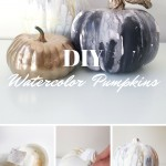DIY Watercolor Pumpkins