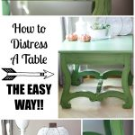 How to Distress A Table, No Sanding Required!