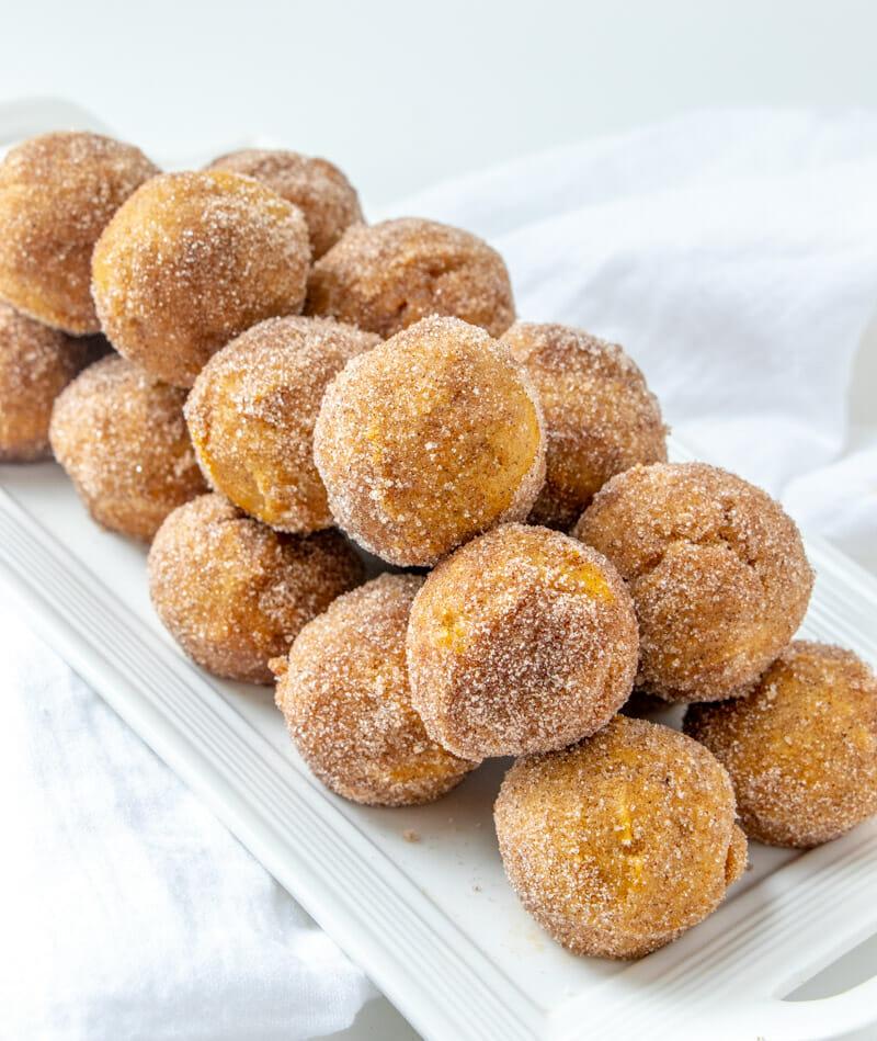 Easy Pumpkin Donut Holes