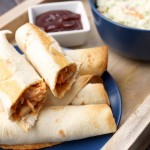 Easy 10 Minute Baked BBQ Chicken Roll Ups