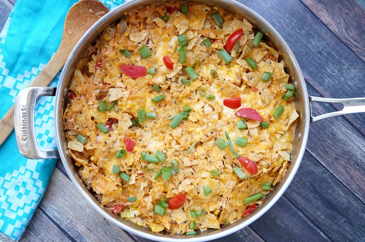One Pan Chicken Tortilla Casserole