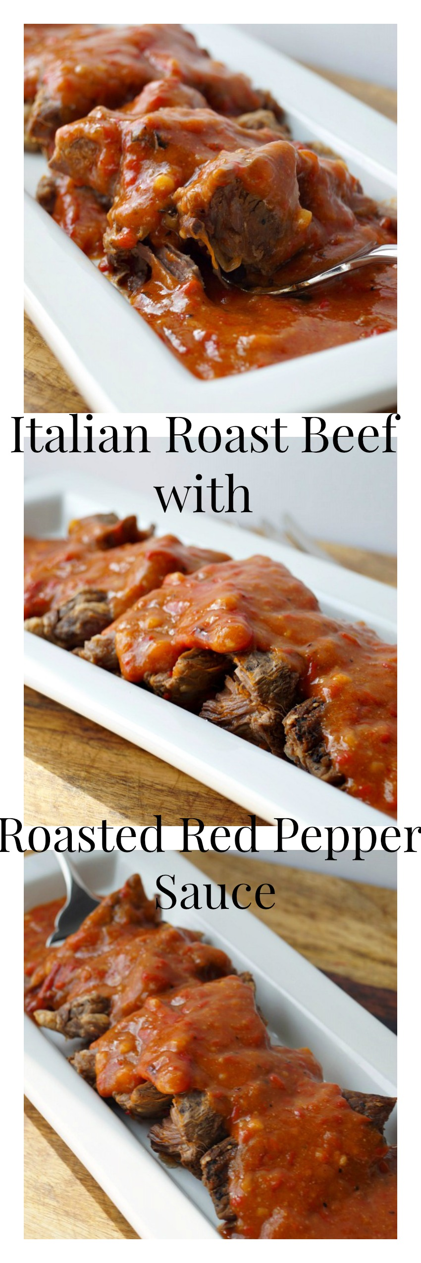 Italian Roast Beef with Roasted Red Pepper Sauce