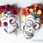 DIY Painted Sugar Skull Mask