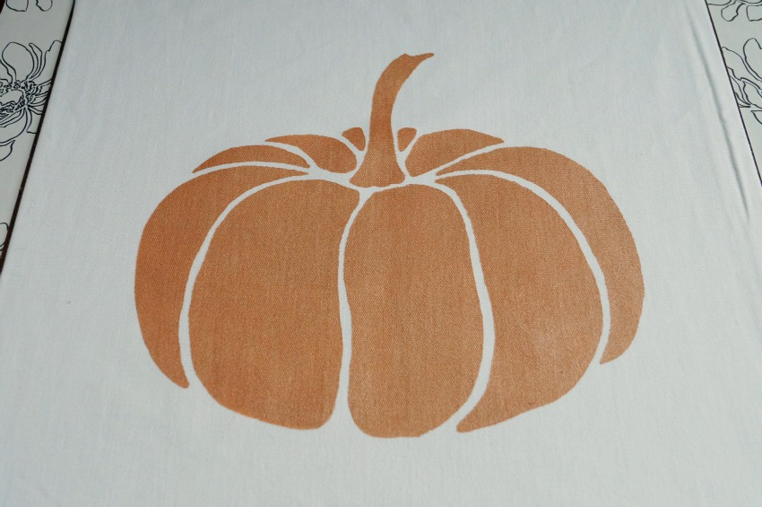 DIY Painted Pumpkin Pillow