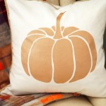 DIY Painted Pumpkin Pillow with Braided Trim