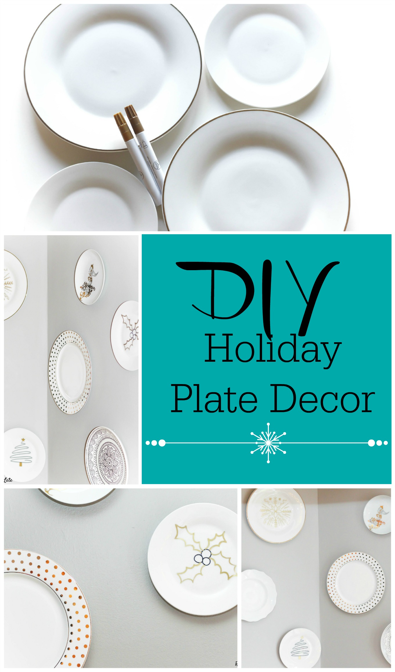 DIY Holiday Plate Wall Decor