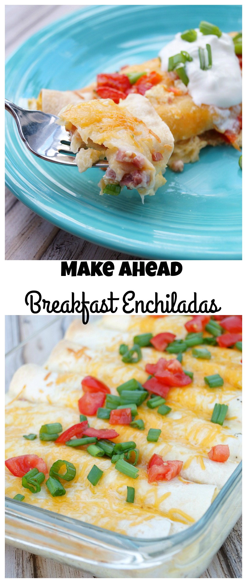 Make Ahead Breakfast Enchiladas, perfect for brunch or any holiday morning!