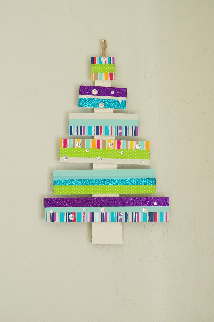 Colorful DIY Washi Tape Tree