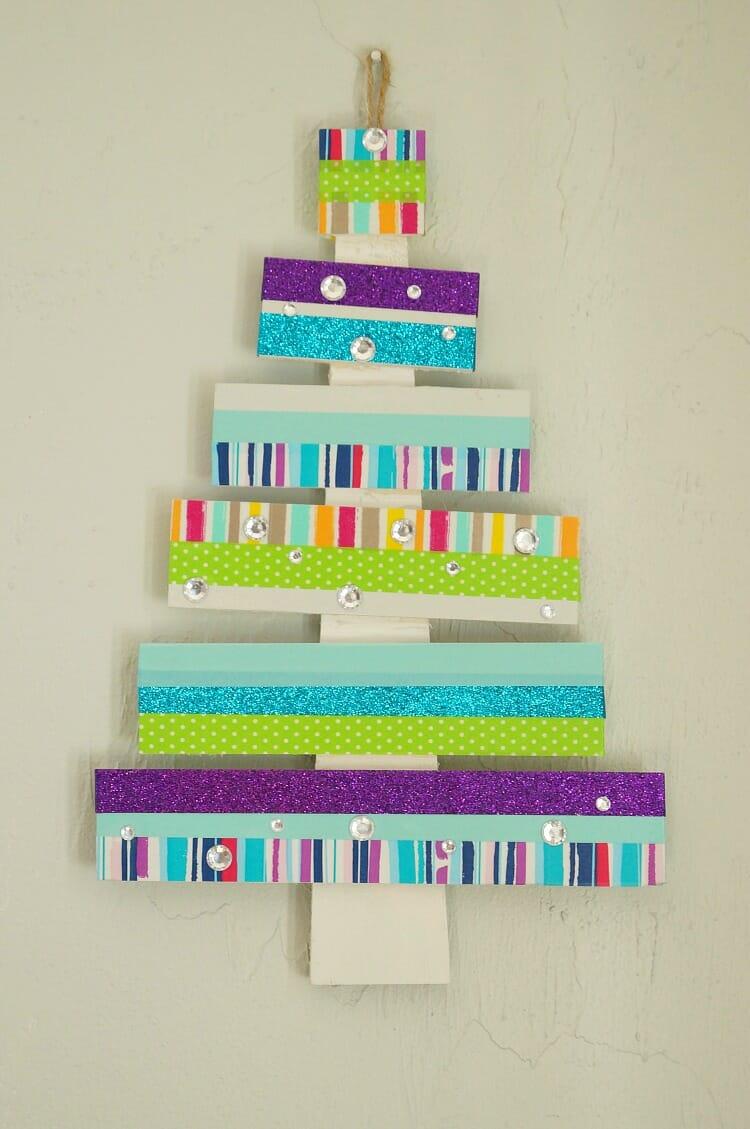 Colorful DIY Washi Tape Tree