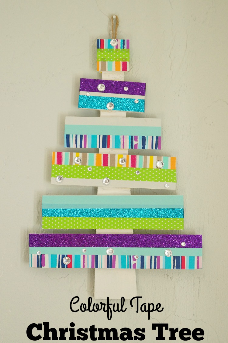 Colorful Washi Tape Christmas Tree #craftamazing [ad]