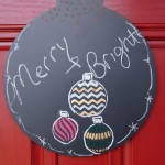 DIY Chalkboard Merry and Bright Sign