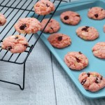 Cranberry and White Chocolate Chip Pink Velvet Cookies