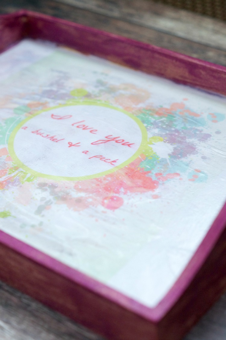 DIY Little Girl's Room Tray