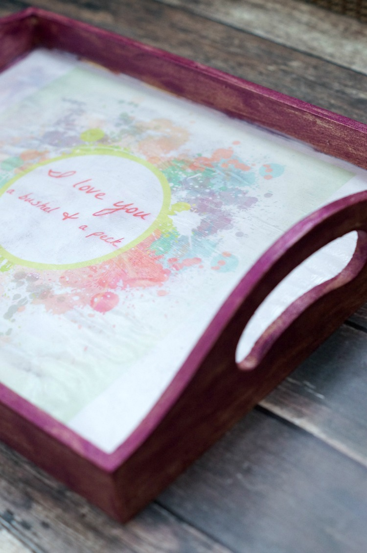 DIY Tray for A Little Girl's Room
