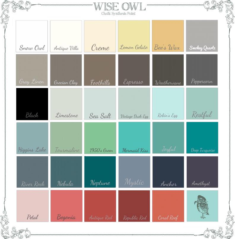 Wise Owl Chalk Paint Colors