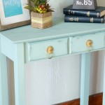 Chalk Synthesis Painted Accent Table