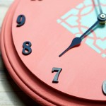 DIY Stenciled Wall Clock
