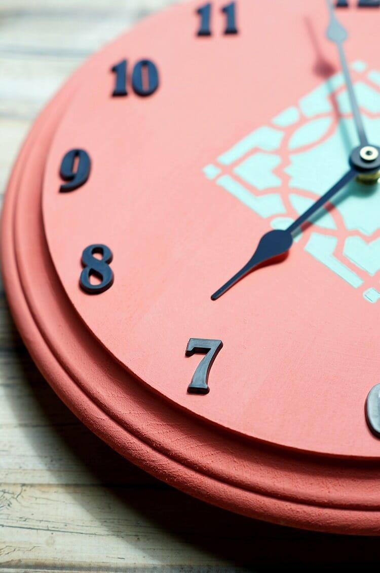 DIY Stenciled Clock