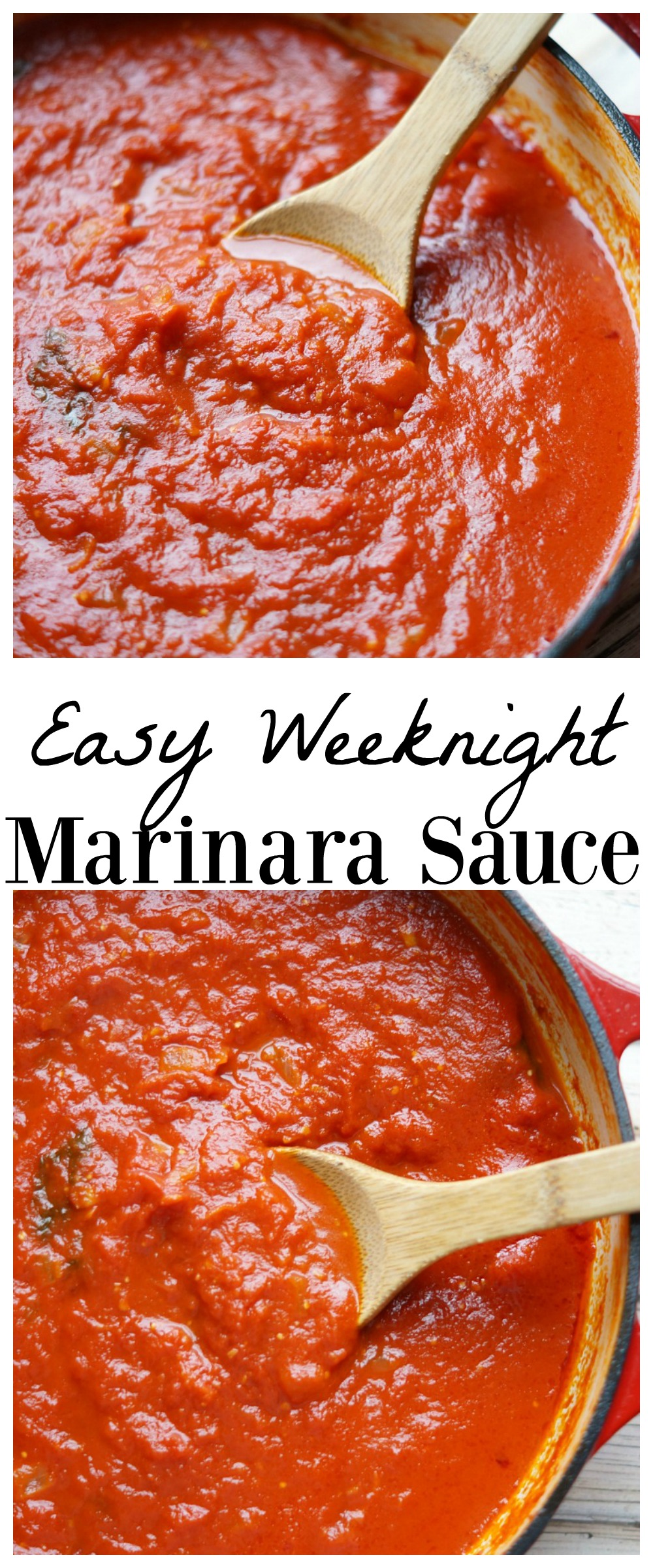 Easy Weeknight Marinara Sauce