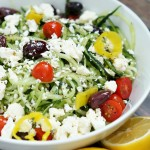 Light and Healthy Spiralized Greek Salad