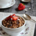 Overnight Mocha Oats; sweet, chocolate oats with a hint of coffee that takes 5 minutes to prepare, is healthy and tastes like a dessert. Winning!