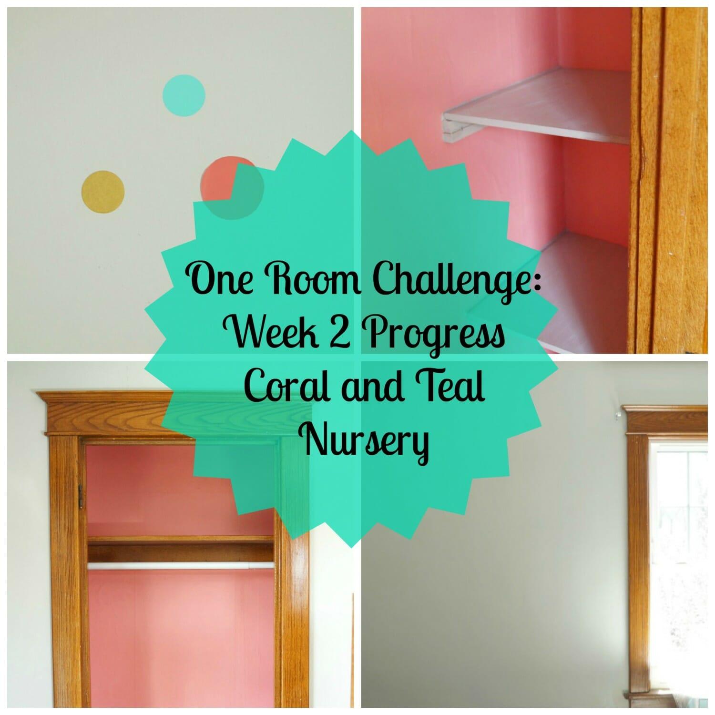 One Room Challenge: Week 2 Coral and Teal Nursery Progress