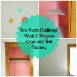 One Room Challenge: Week 2 Coral and Teal Nursery Progress