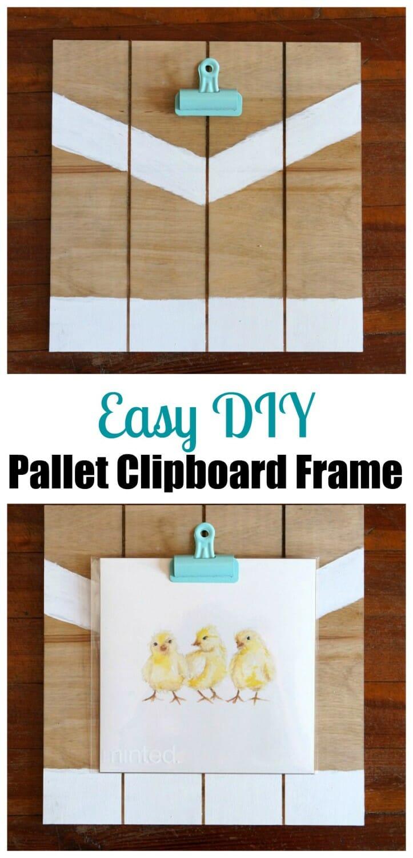 Easy DIY Pallet Clipboard Frame