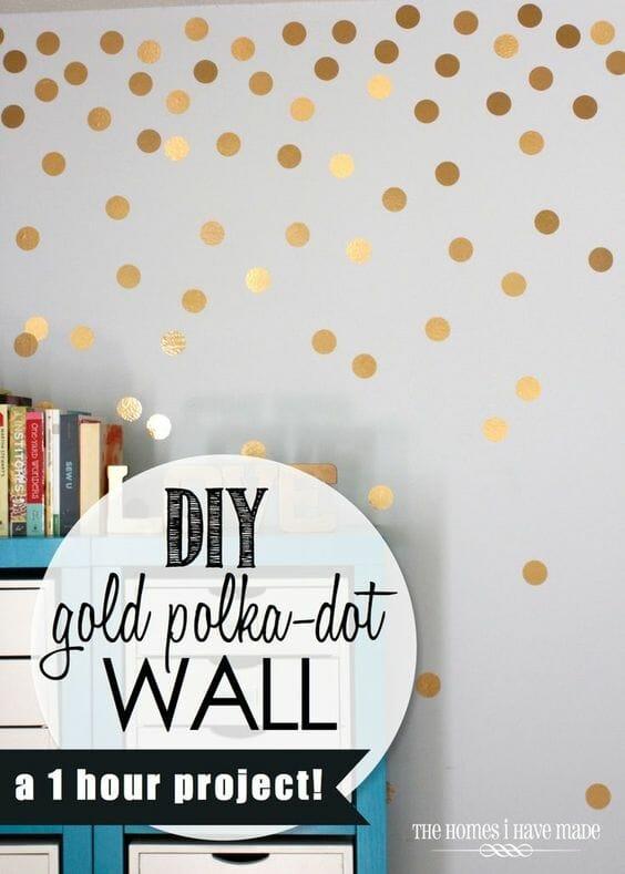 Polka Dot Wall Treatment