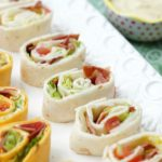 BLT Pinwheels with Avocado Ranch Dressing