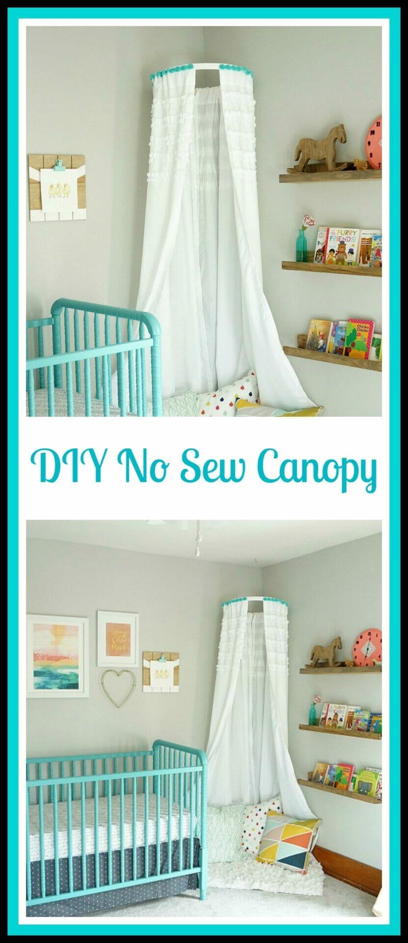 DIY No Sew Children's Canopy