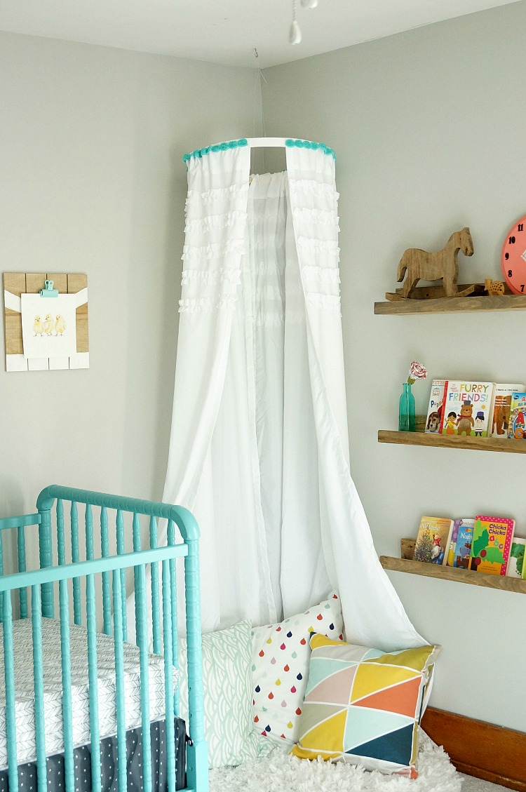 Easy DIY No Sew Childrenu0027s Canopy & DIY No Sew Childrenu0027s Canopy