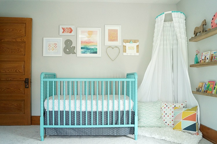 Our Coral And Teal Nursery Source List Old House To New Home