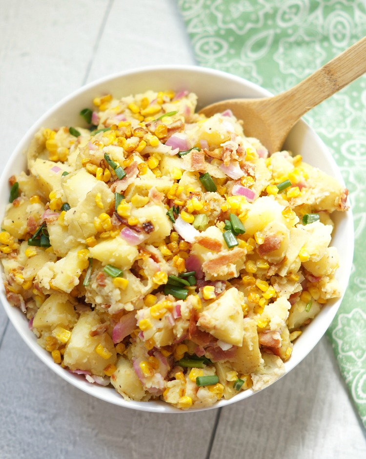 Roasted Corn and Bacon Potato Salad