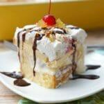 No Bake Banana Split Ice Cream Cake