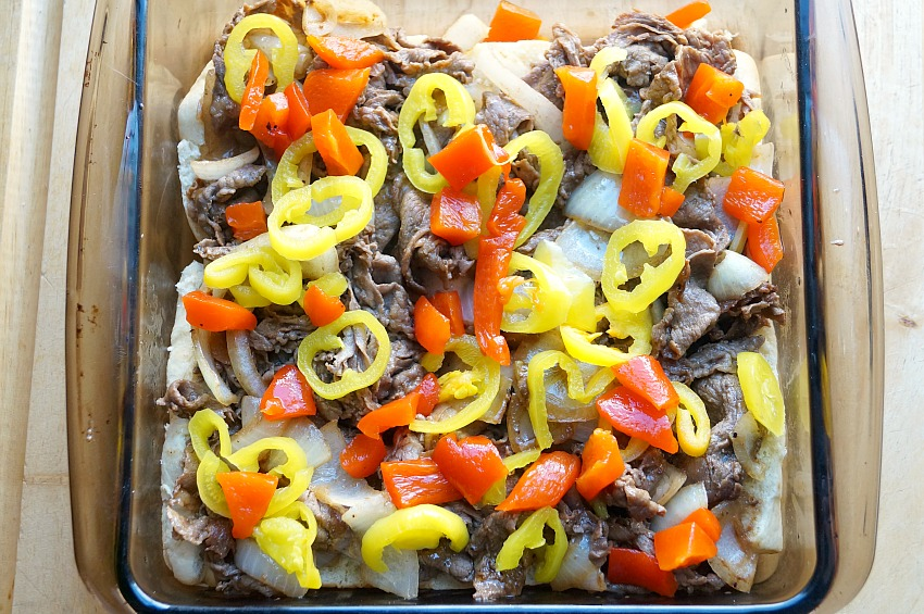Italian Cheesesteak Sliders