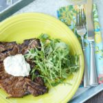 Marinated T-Bone Steaks with Garlic Herb Aioli