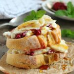 Honeyed Raspberry and Banana Ricotta Toast