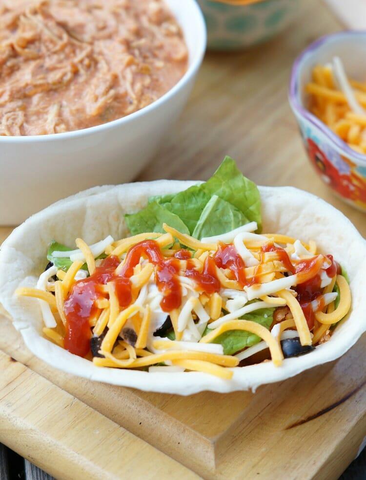 Slow Cooker Salsa Chicken Burrito Bowls