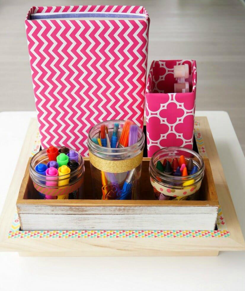 Diy School Supplies And Craft Organizer