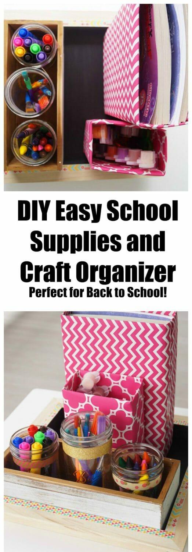 Easy DIY School Supplies and Craft Organizer